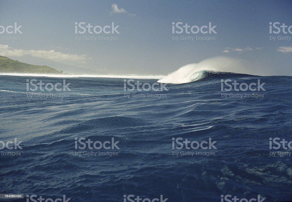 Big blue Hawaii surfing wave royalty-free stock photo