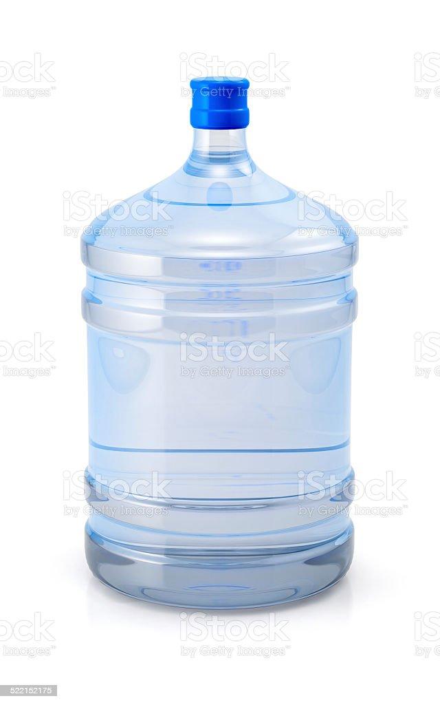 Big blue plastic cooler bottle stock photo