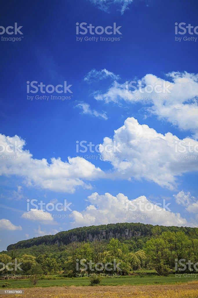 Big Blue Sky Over Mt. Nemo royalty-free stock photo
