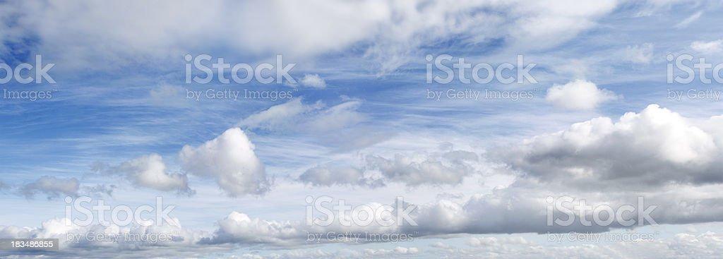 Big blue sky royalty-free stock photo