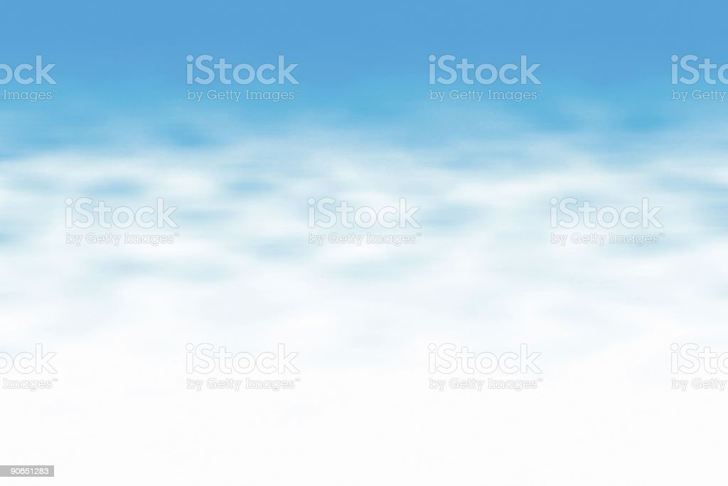 Big Blue Sky Wide royalty-free stock photo
