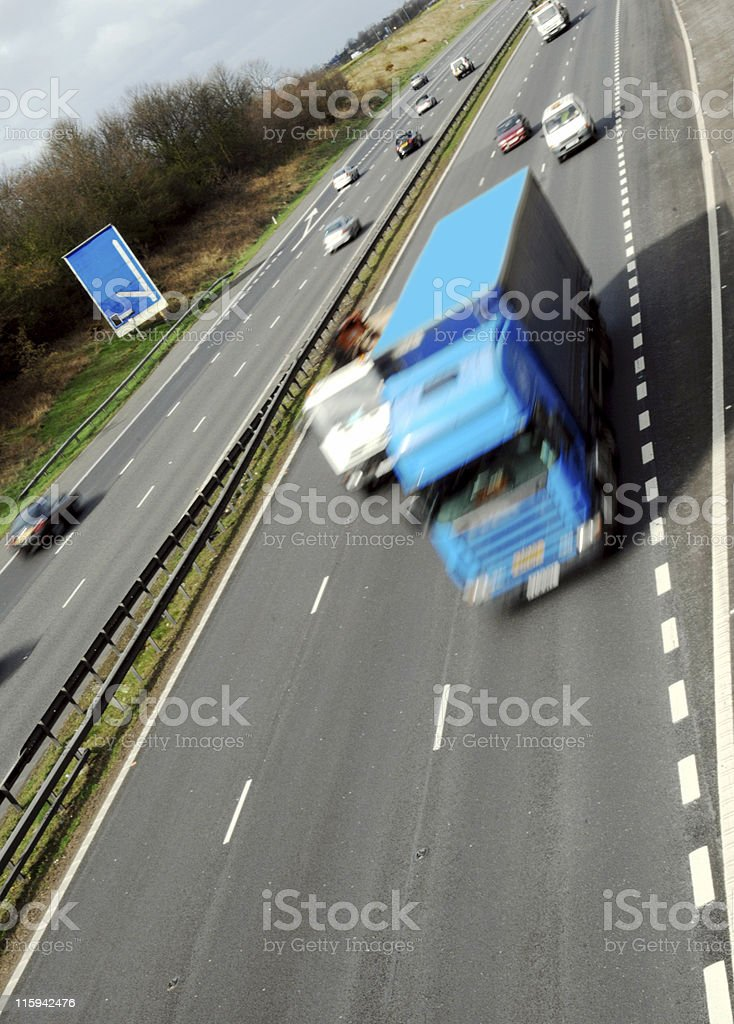 Big Blue Truck royalty-free stock photo
