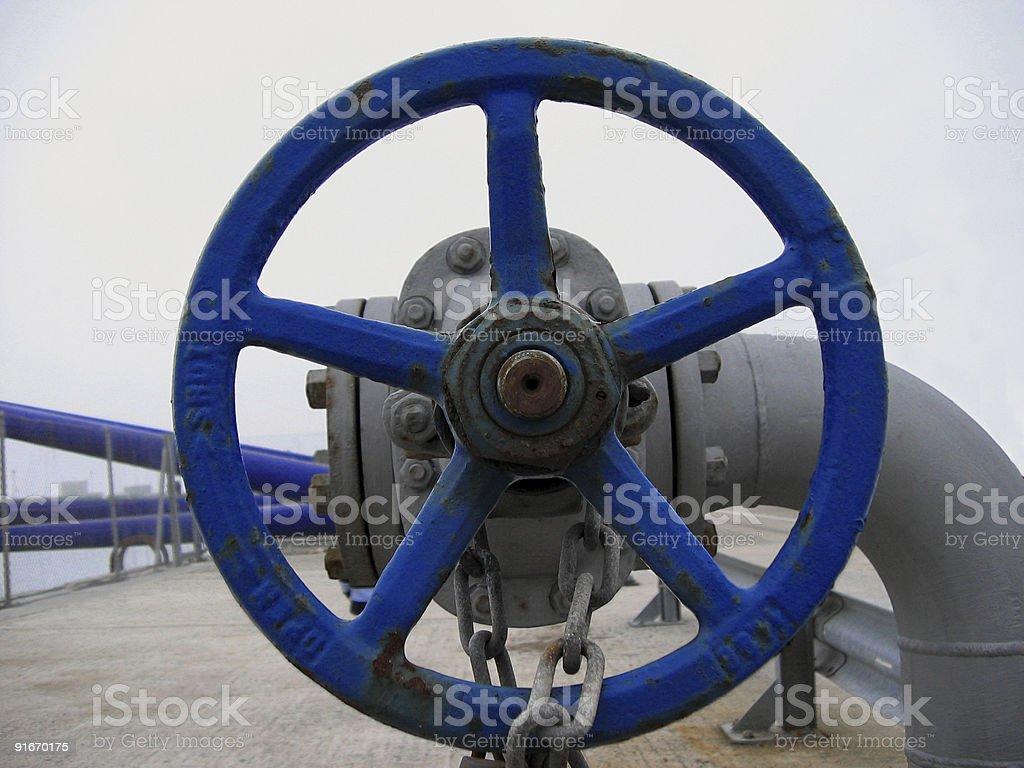 big blue valve royalty-free stock photo