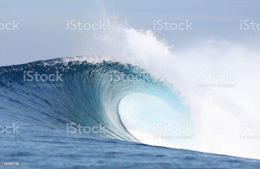 Big blue wave royalty-free stock photo