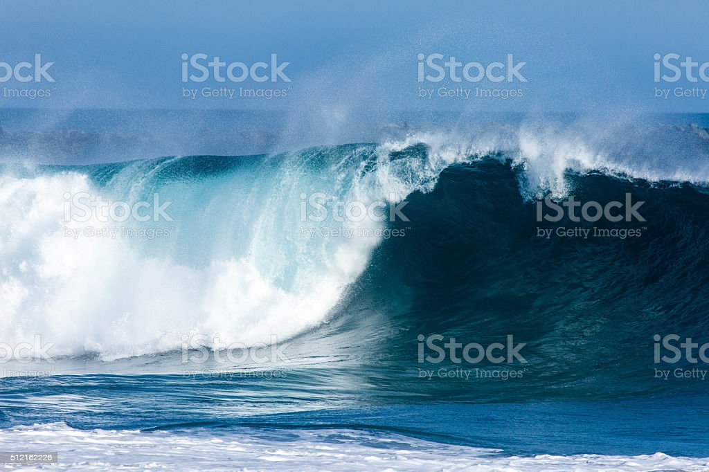 Big blue wave stock photo