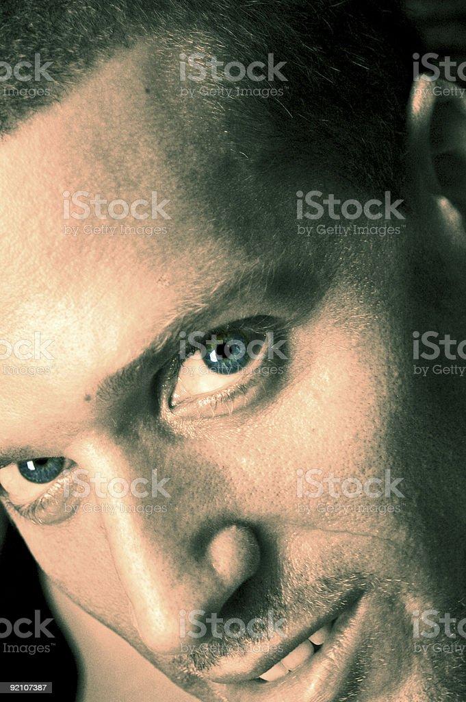 big blues eyes stock photo