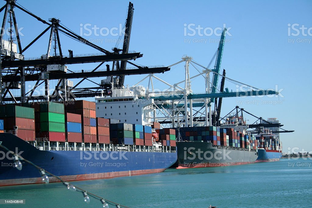 Big Boats in Miami Port royalty-free stock photo