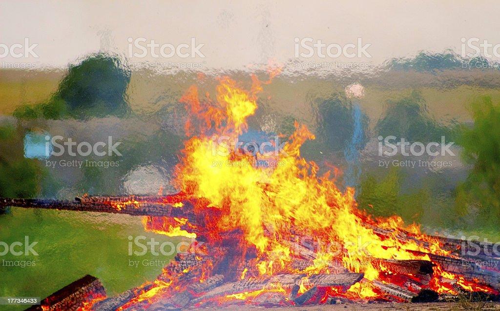 big bonfire royalty-free stock photo