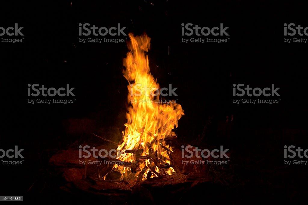 big bonfire stock photo