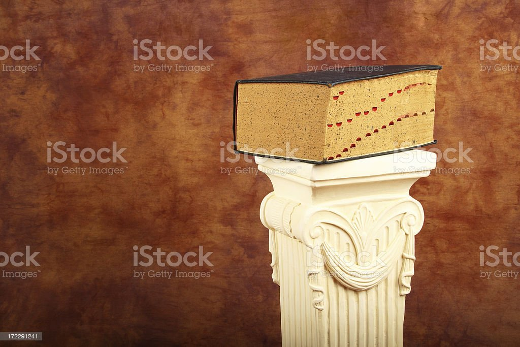 Big Book On A Pedestal royalty-free stock photo