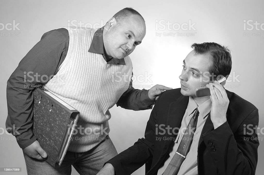 big boss b&w royalty-free stock photo