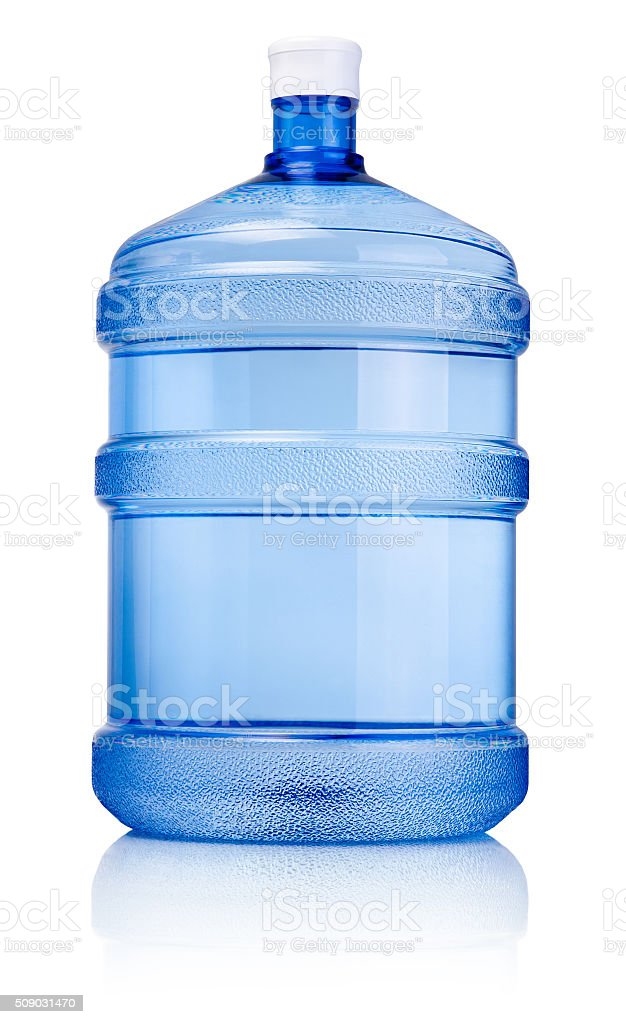 Big bottle of drinking water isolated on a white background stock photo
