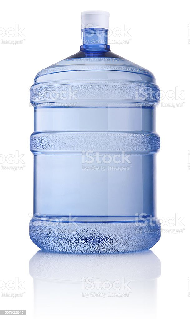 Big bottle of water isolated on white background stock photo