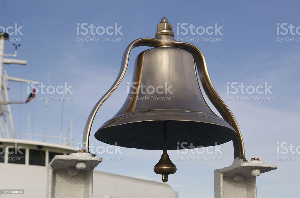 Big Brass Ship's Bell stock photo