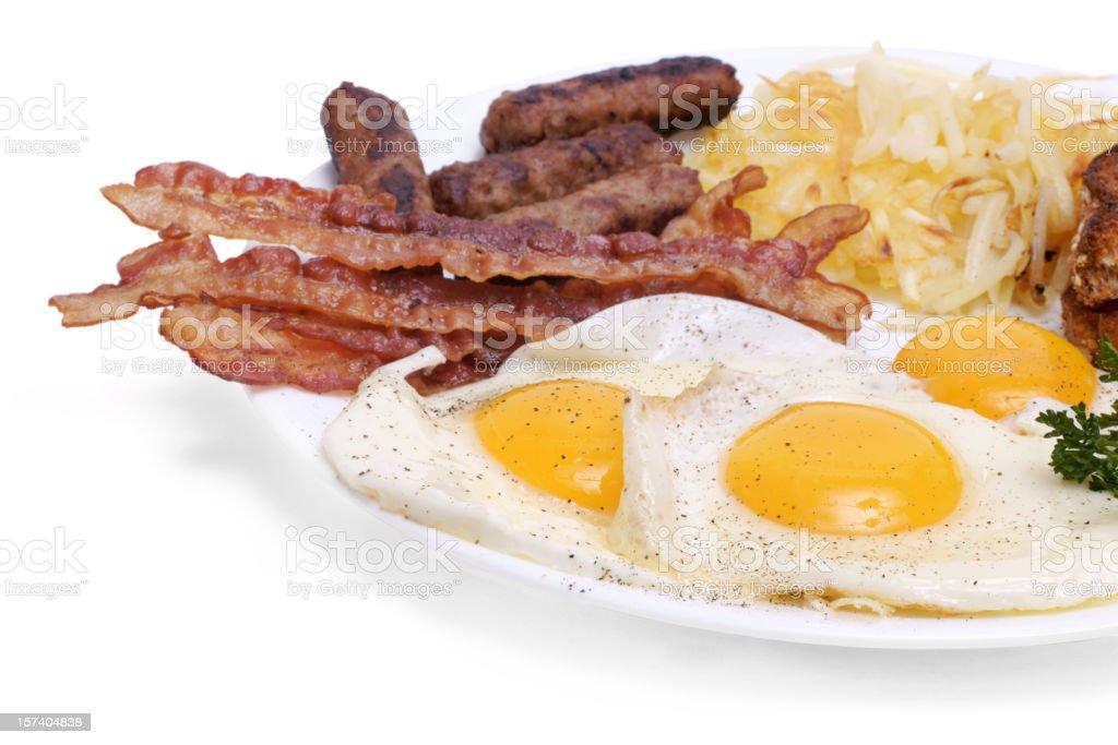 big breakfast  plate royalty-free stock photo