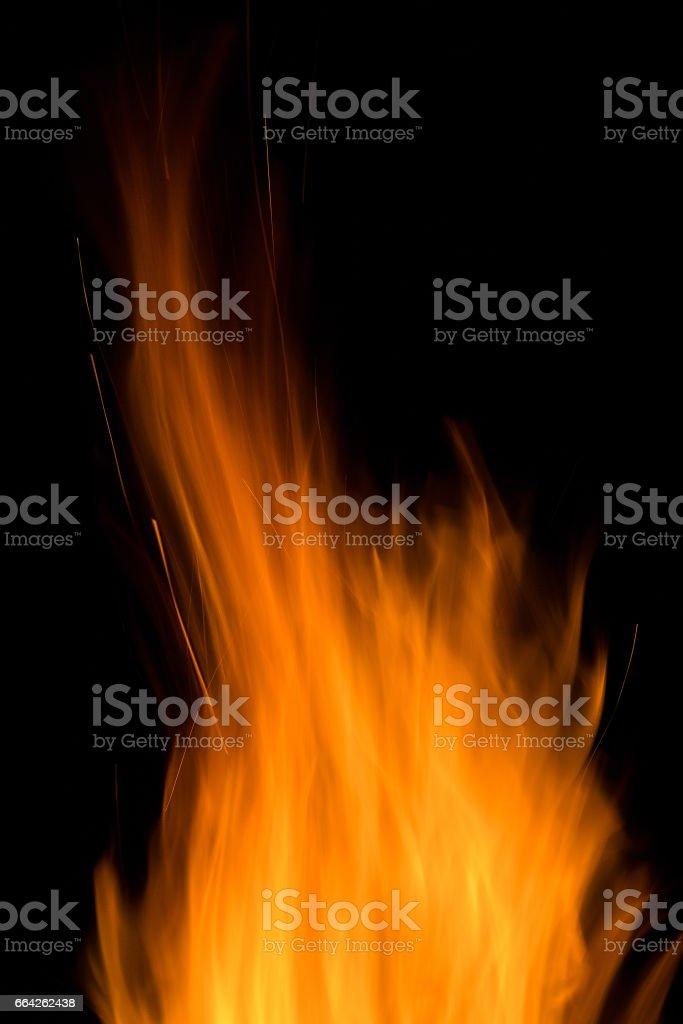 big bright bonfire stock photo