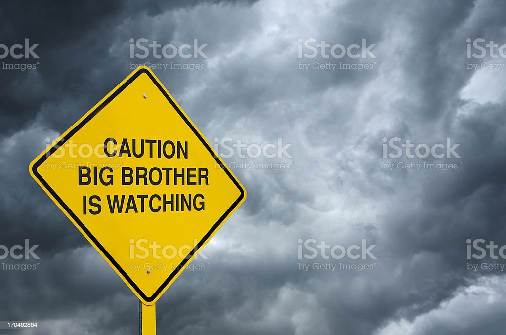 Big Brother Road Sign royalty-free stock photo