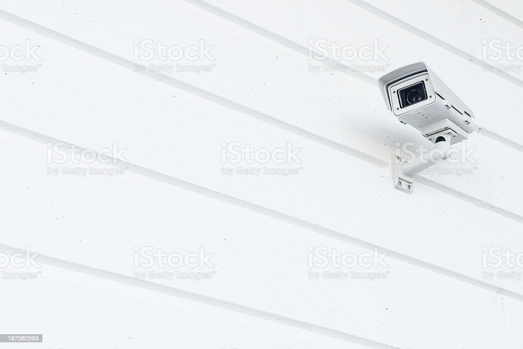 Big Brother Security Camera on White Background Wall royalty-free stock photo