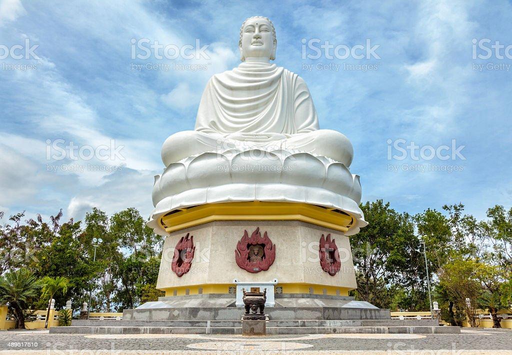 Big Buddha at Long Son pagoda in Nha Trang Vietnam stock photo