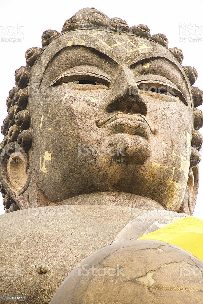 Big Buddha Face, Thailand royalty-free stock photo
