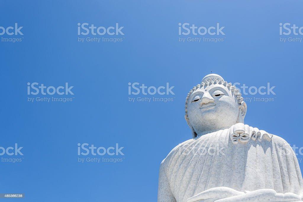Big Buddha monument on the island of Phuket in Thailand stock photo