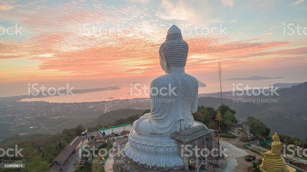 Big Buddha on the altar stock photo