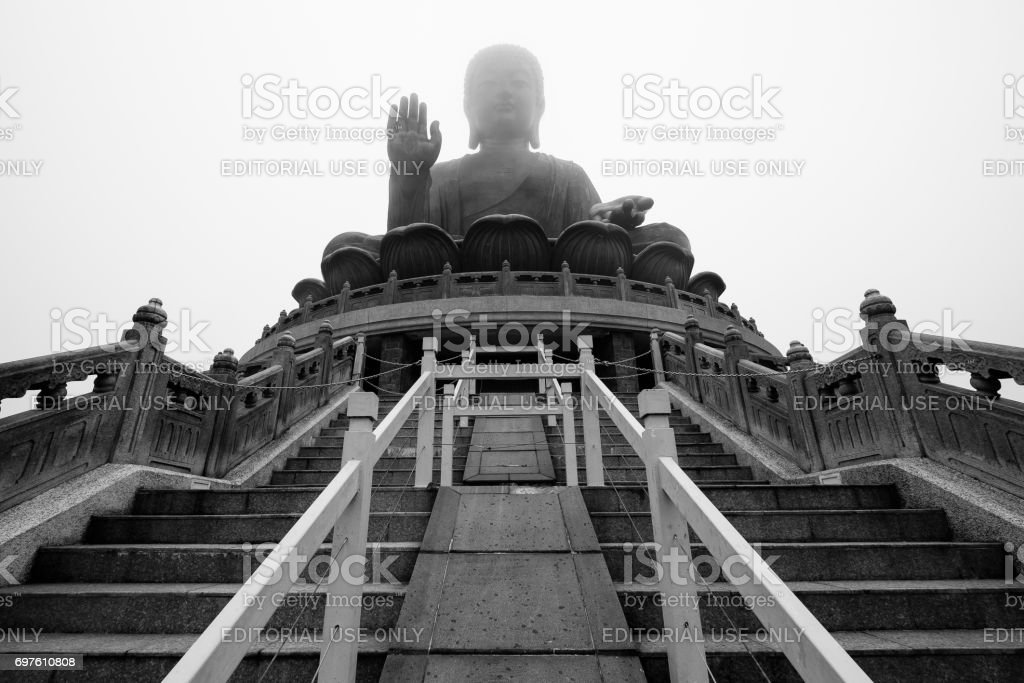 Big Buddha or Tian Tan Buddha in Lantau island - Hong Kong stock photo