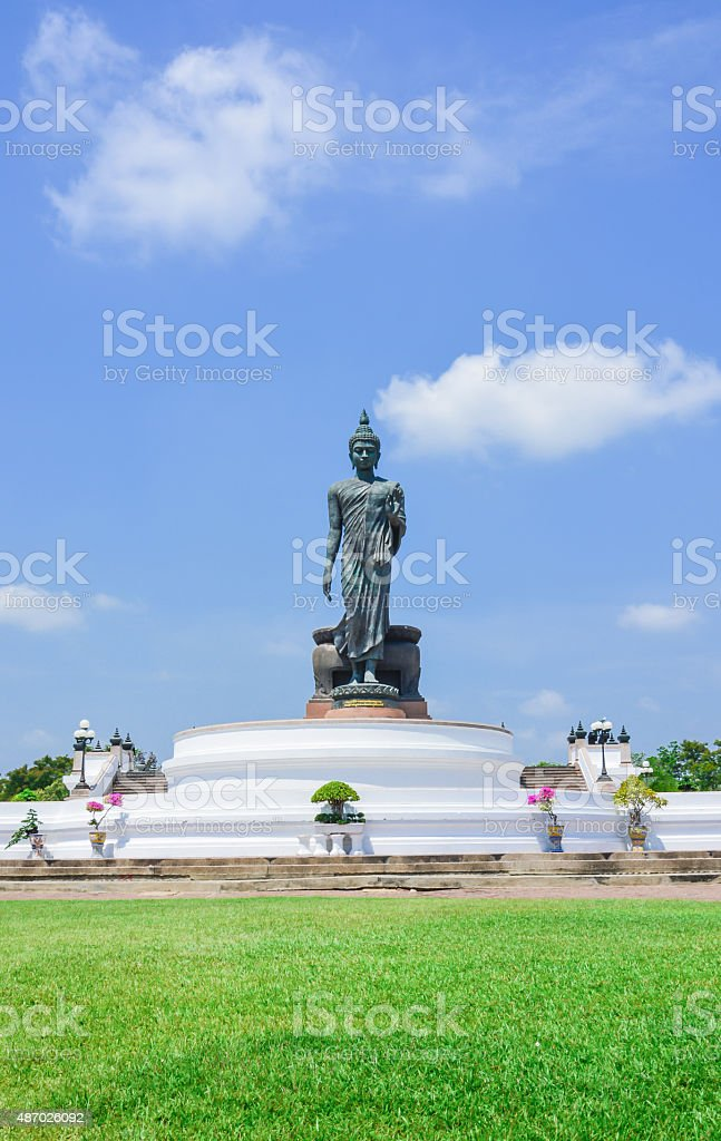 Big Buddha statue at phutthamonthon province, Nakhon Pathom, Thailand stock photo