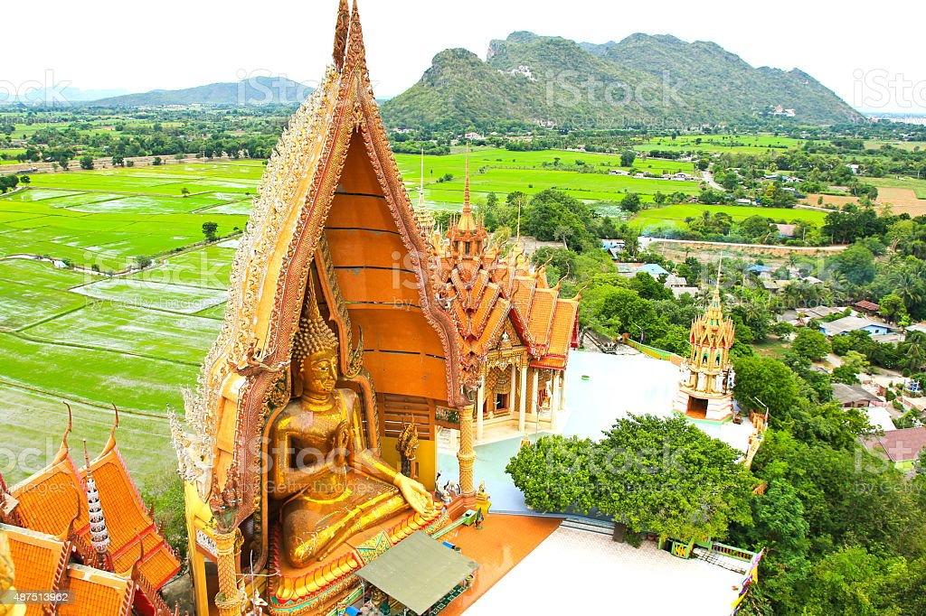 Big Buddha Statue at Wat Tham Sua Temple stock photo