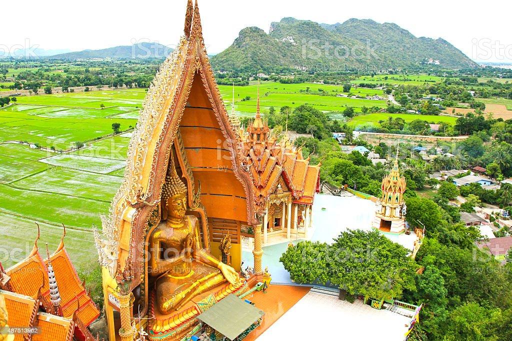 Big Buddha Statue at Wat Tham Sua Temple stock photo