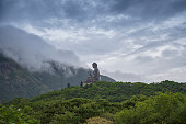 Big buddha (Tian Tan Buddha) statue in Hong Kong