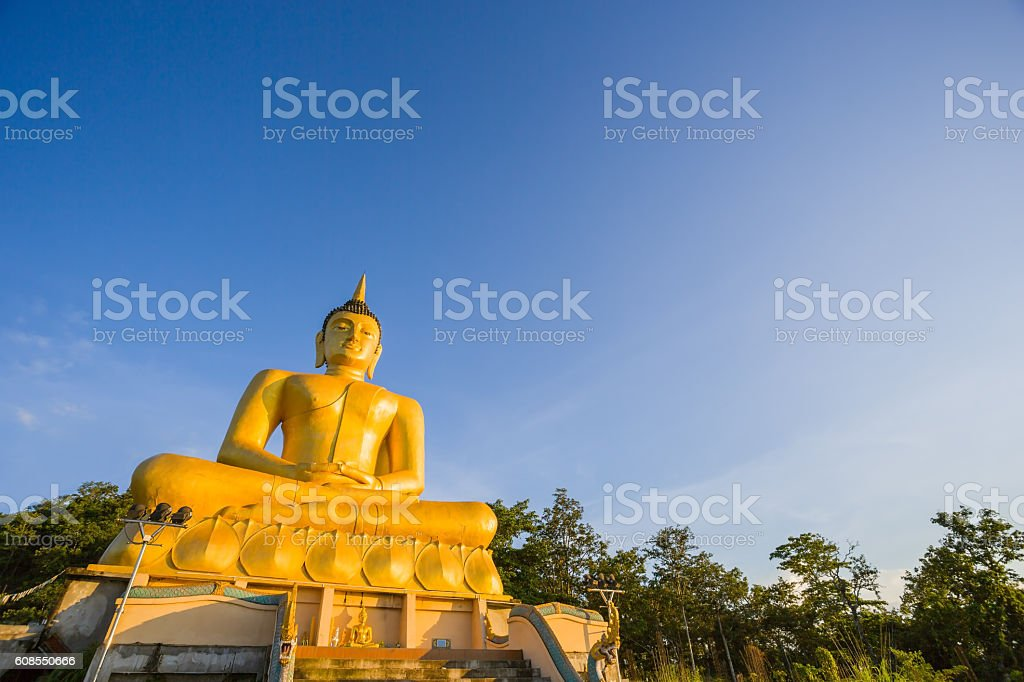 Big buddha statue in laos stock photo