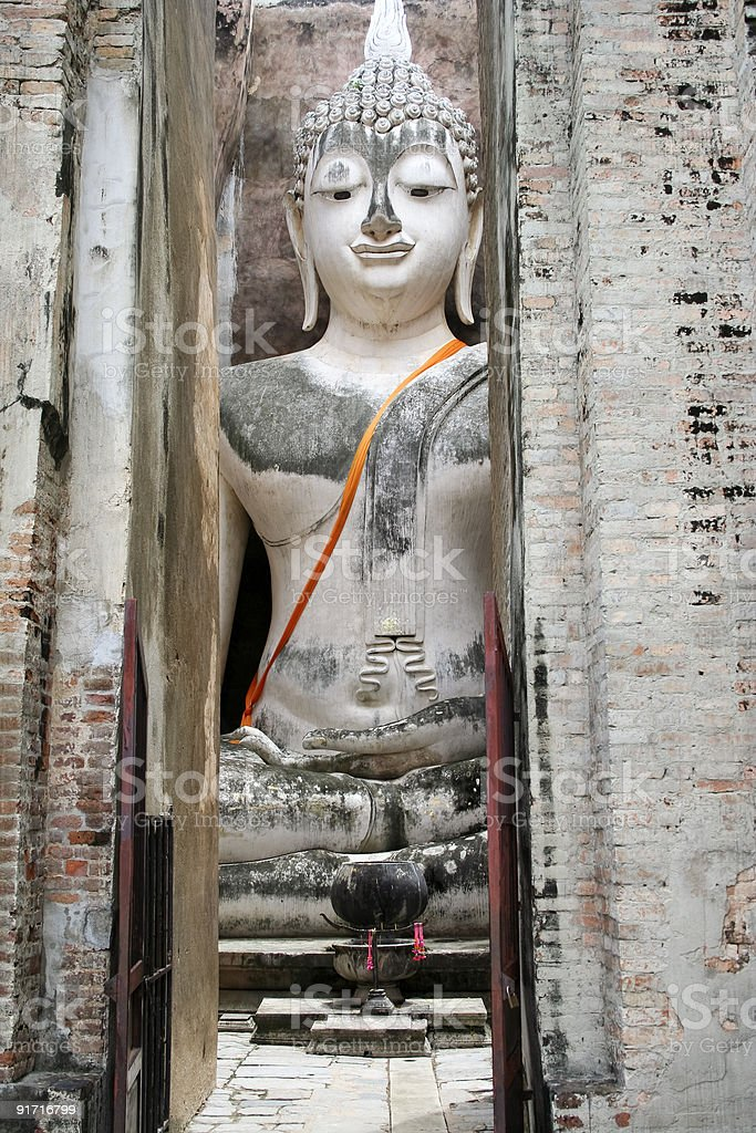 big buddha Sukhothai thailand royalty-free stock photo