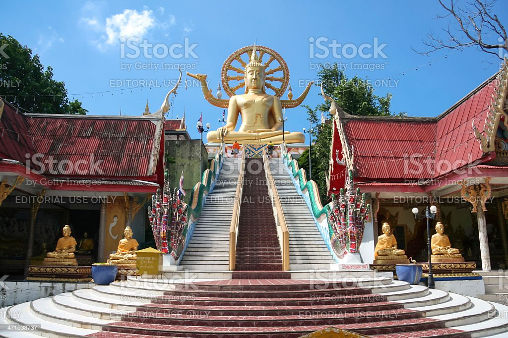 big buddha temple koh samui thailand royalty-free stock photo