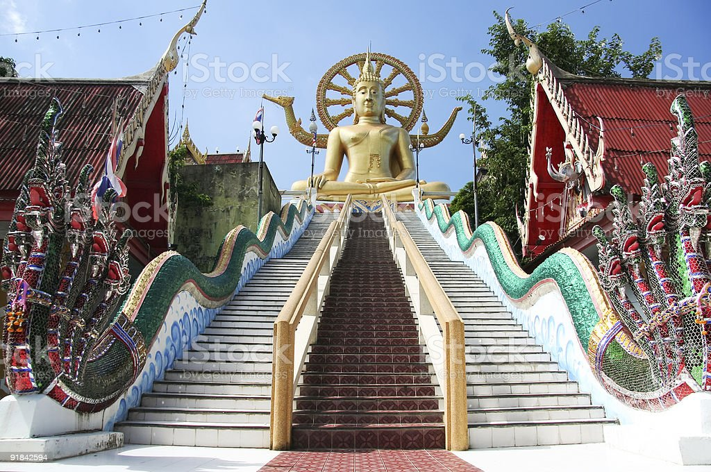 big buddha temple koh samui thailand royalty-free stock photo