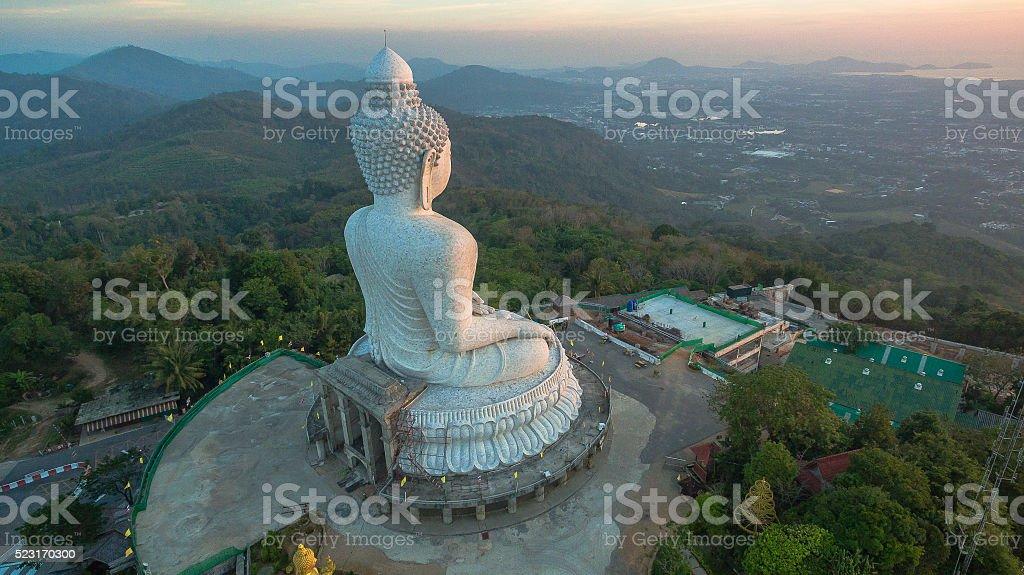 Big Buddha viewpoint stock photo