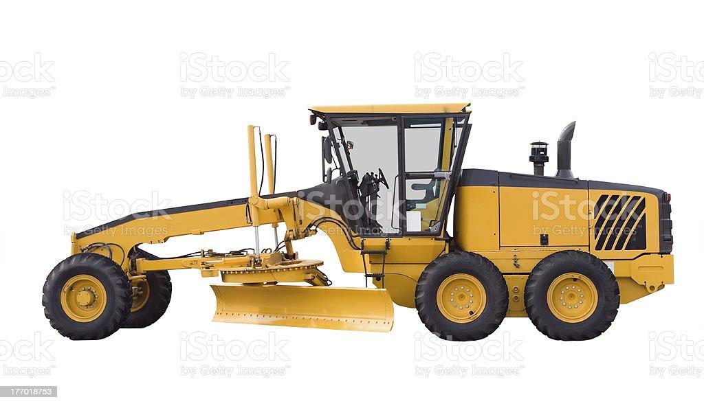 Big bulldozer, isolated on white royalty-free stock photo