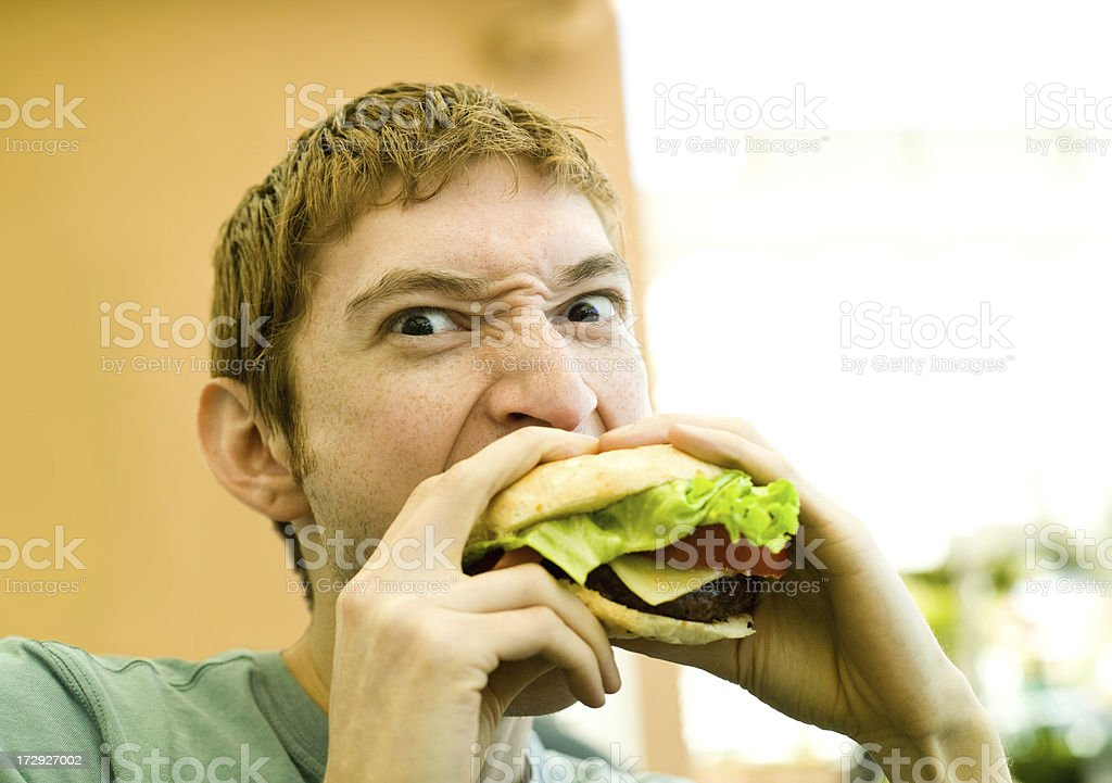 Big Burger Bite stock photo