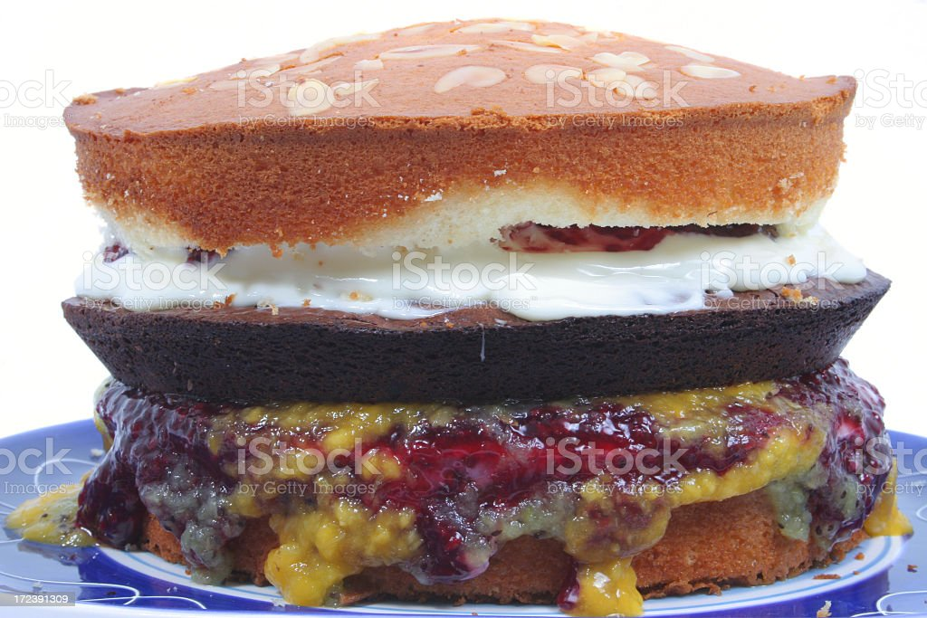 Big Burger Cake stock photo