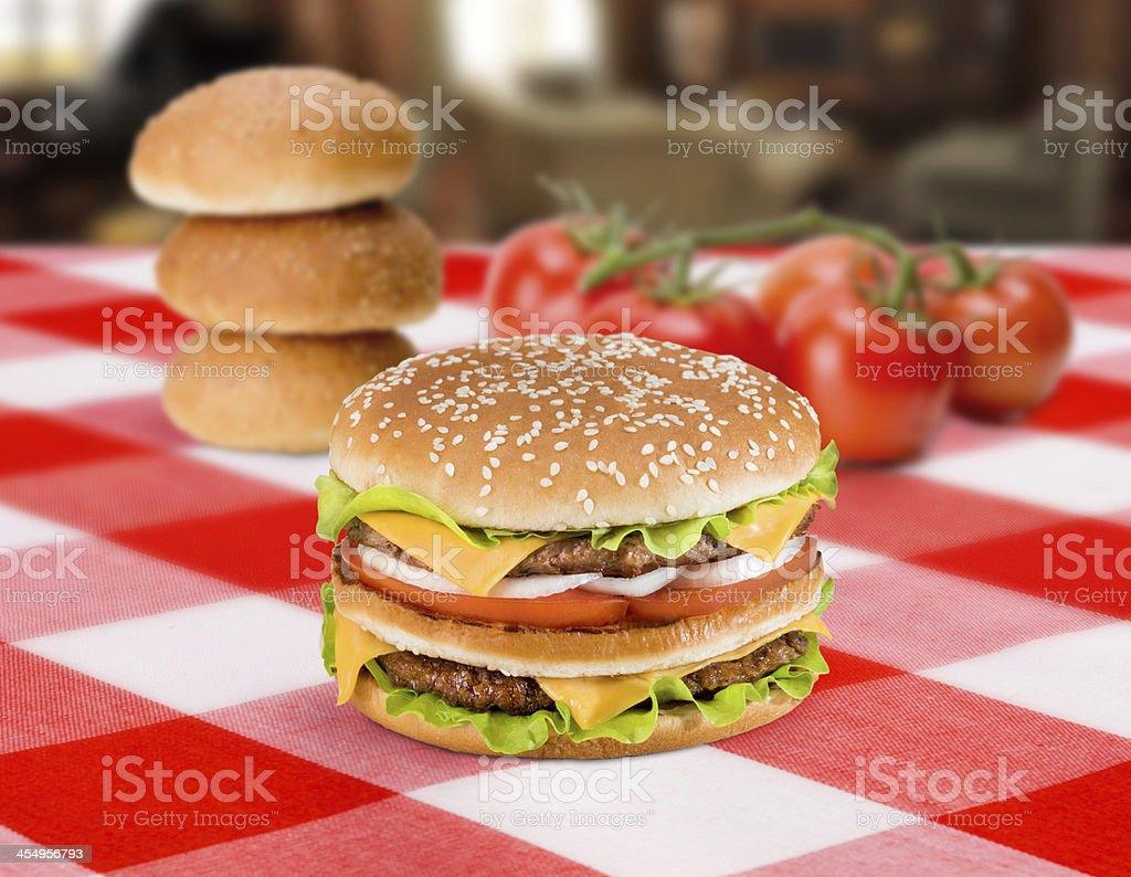 Big burger royalty-free stock photo