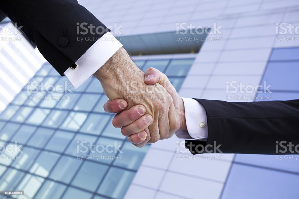 Big Business Deal Hand Shake royalty-free stock photo