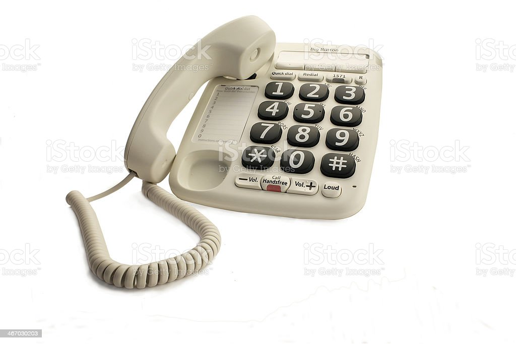 Big Button Telephone stock photo