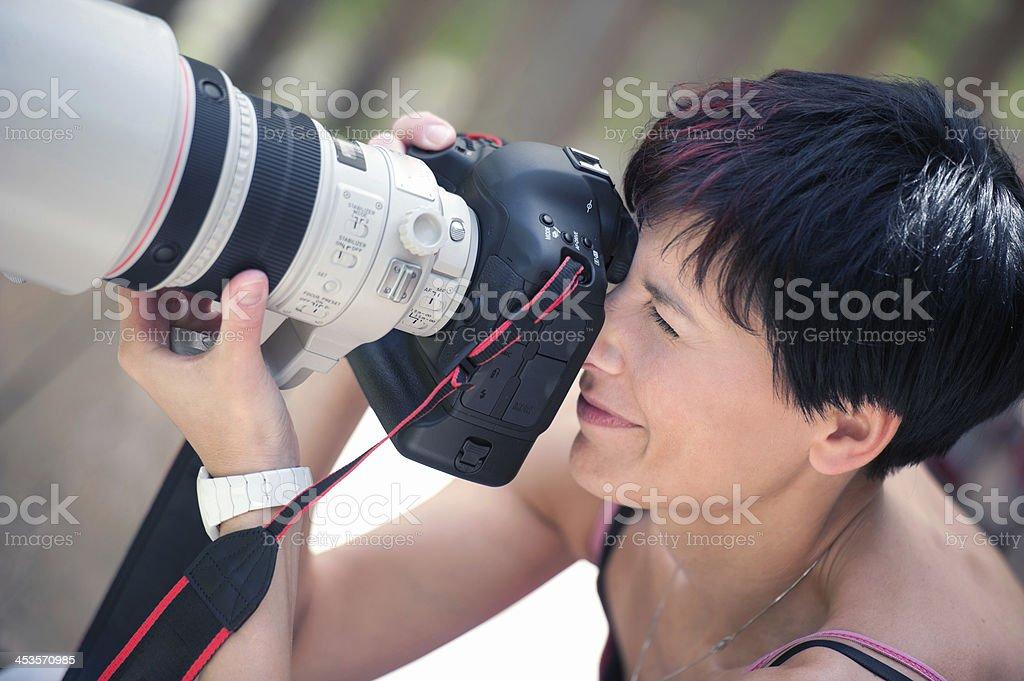 Big Camera Lens royalty-free stock photo