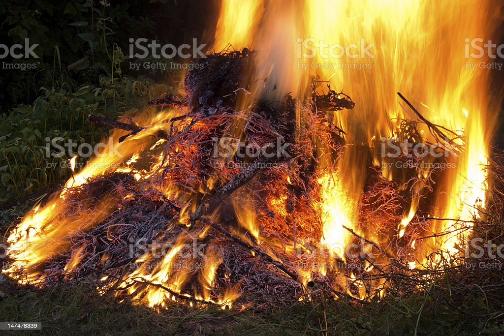 Big campfire royalty-free stock photo