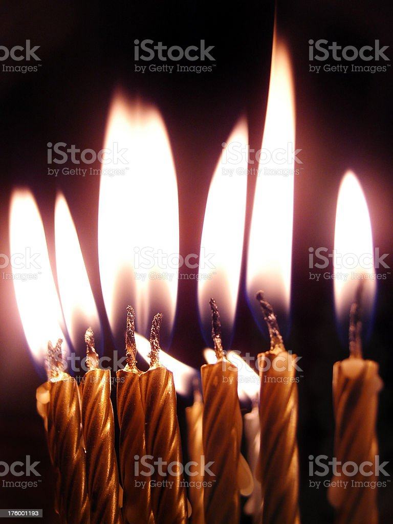 Big Candle Flames royalty-free stock photo