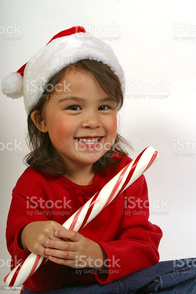 Big Candy Cane royalty-free stock photo