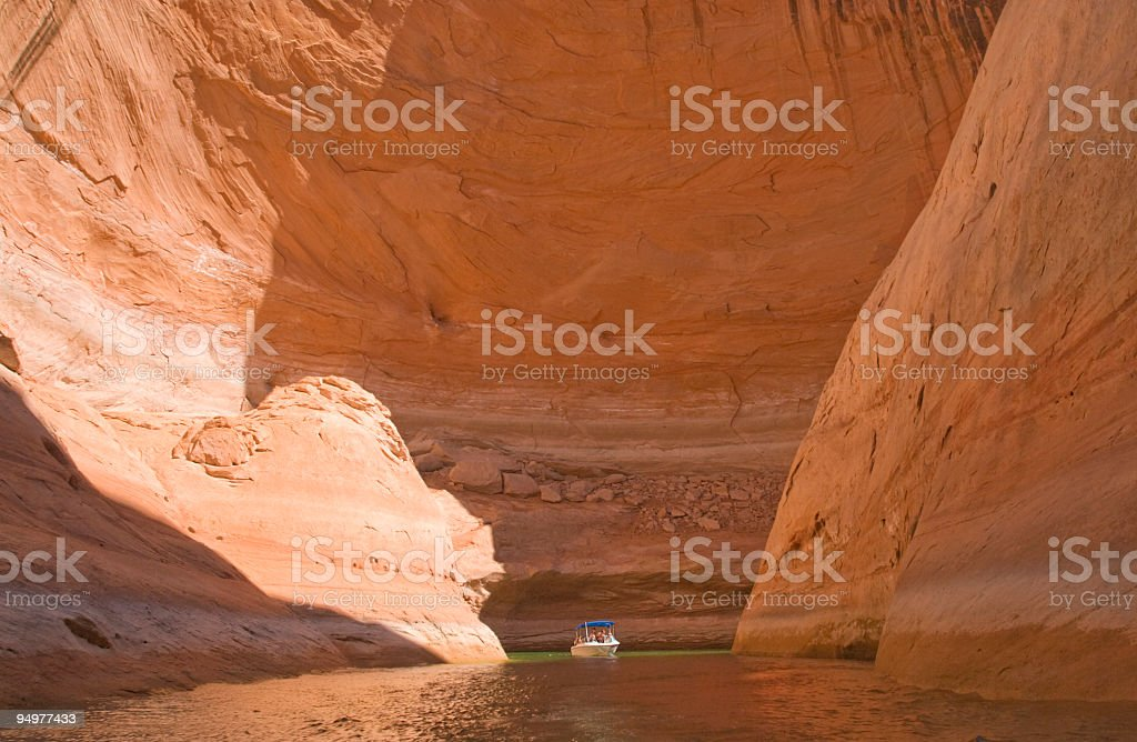 Big Canyon, Small Boat stock photo