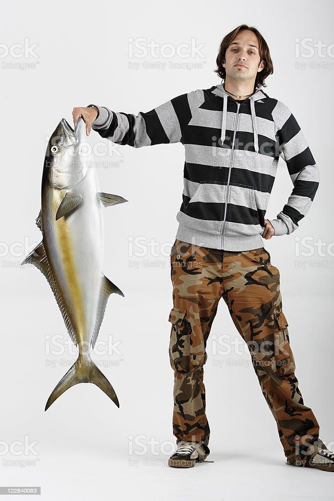 big catch royalty-free stock photo