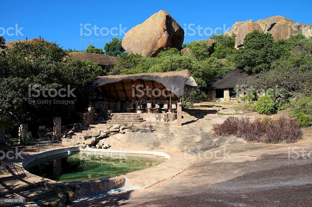 Big Cave Camp, Matobo National Park, Zimbabwe stock photo