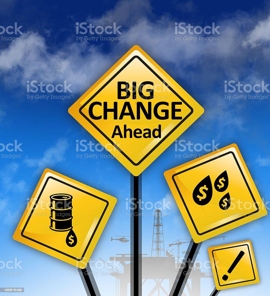 big change ahead stock photo